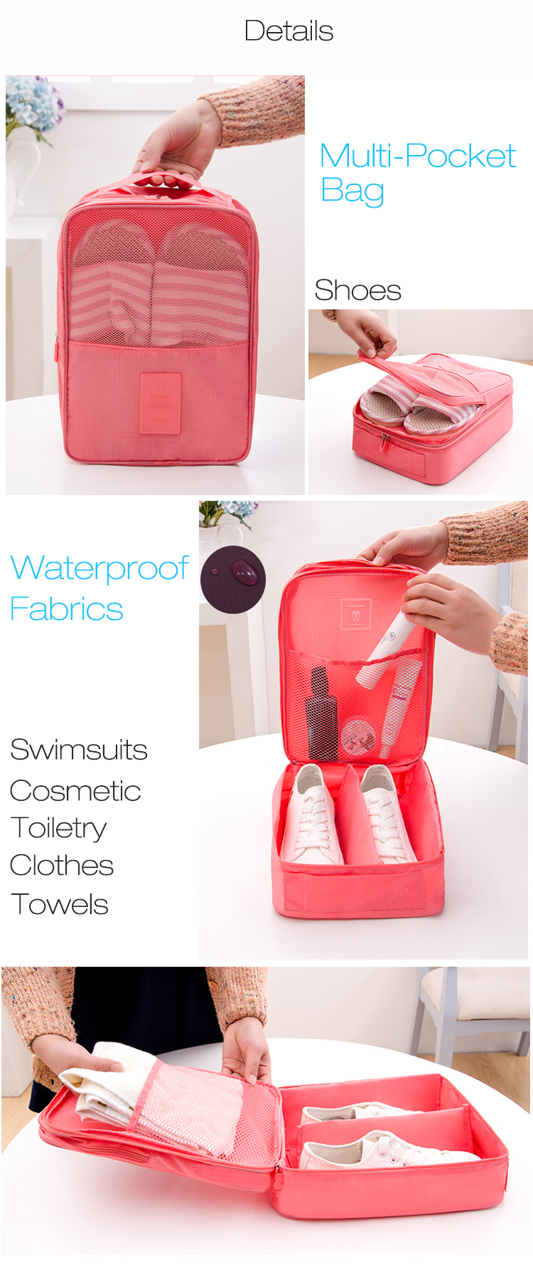 Honana HN-TB18 Travel Storage Bags Waterproof Portable Shoes Box Pouch Organizer Bag Cube Fashion