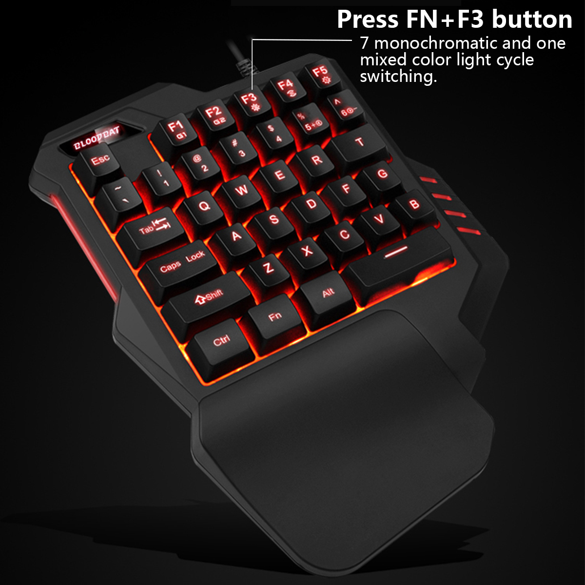 Mechanical Keyboard Left Hand Game Keypad Mouse for Game LOL Dota for PUBG Games
