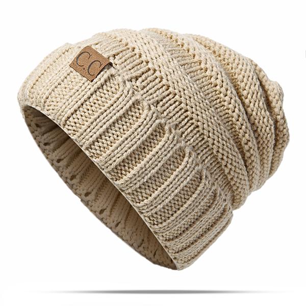 Women Men Warm Soft Knitted Hat Autumn Winter Warm Outdoor Solid Skullies Beanies Cap
