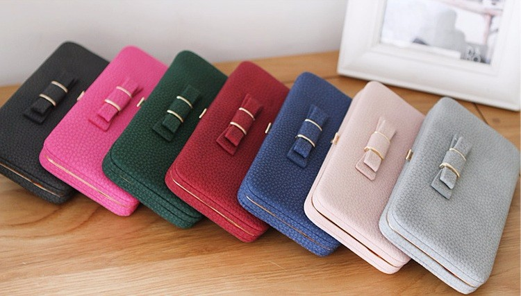 Universal 5.5 inch Butterfly Knot Functional Phone PU Wallet Case Cover for Xiaomi Samsung Huawei