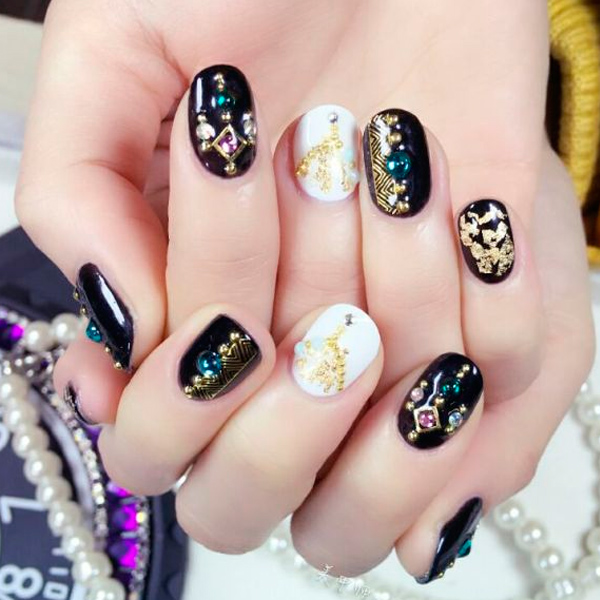 Gold Silver Nail Art Foil Flake UV Gel Paillette Paper Manicure Nail DIY Decorations Accessory