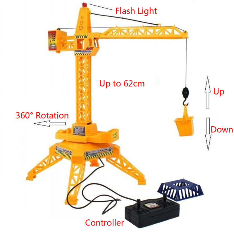 1/64 Remote Control Crane Hobby Kid Lift Construction Gift Toy With Accessories