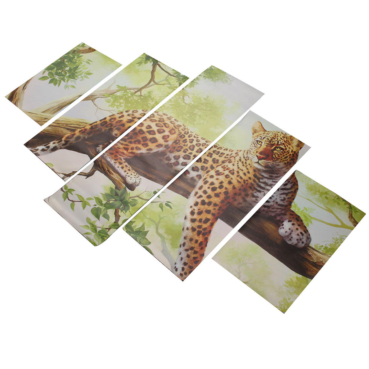 5Pcs Combination Canvas Print Painting Leopard Modern Wall Art Drawing Home Wall Decor Gift