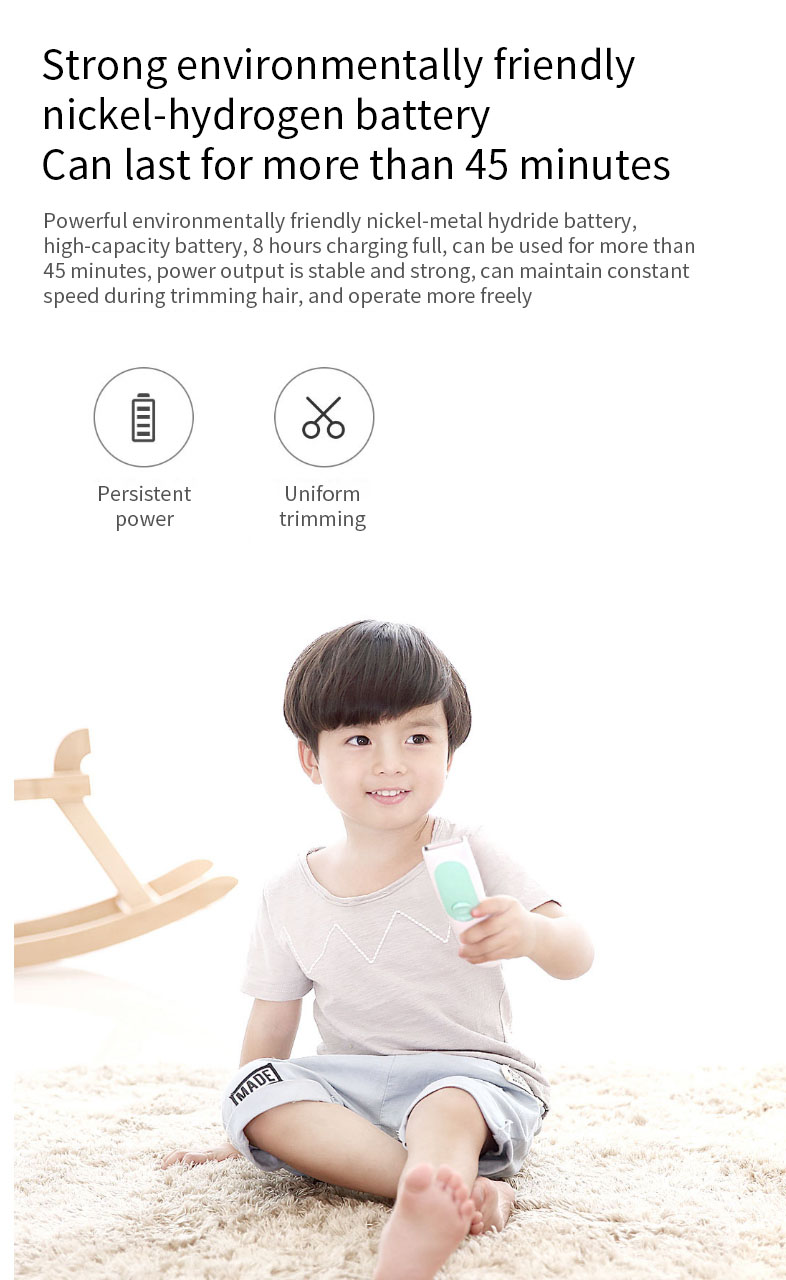 Original Xiaomi Yueli Safe Waterproof Electric Hair Clipper Razor Silent Motor for Children Baby Men Electric Shaver Hair Trimmer Haircut