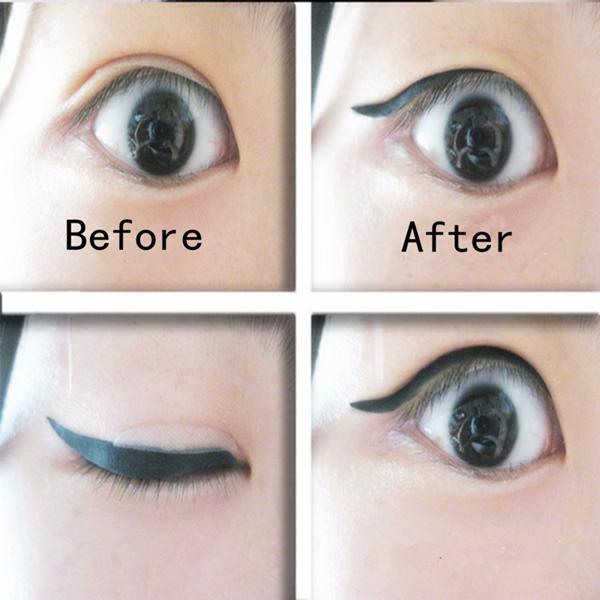 80 Pairs Black Eyeliner Double Eyelid sticker Eye Liner Temporary Tattoo