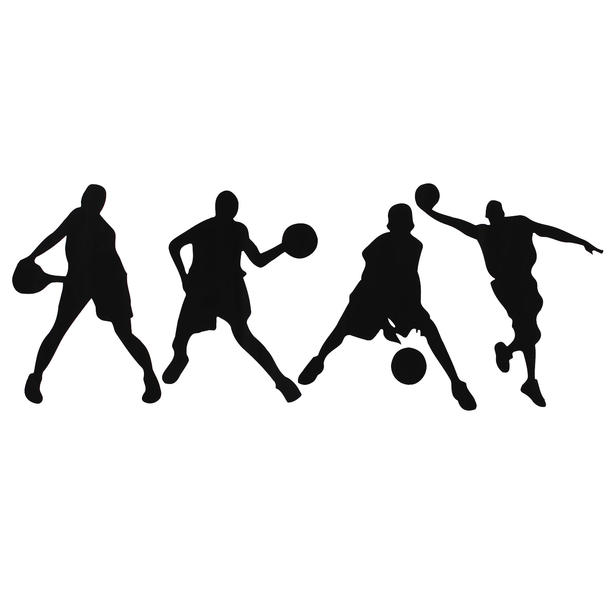 23X60CM Playing Basketball Wall Stickers Removable Sports Basketball Decals Home Boy Room Decor Wall Sticker