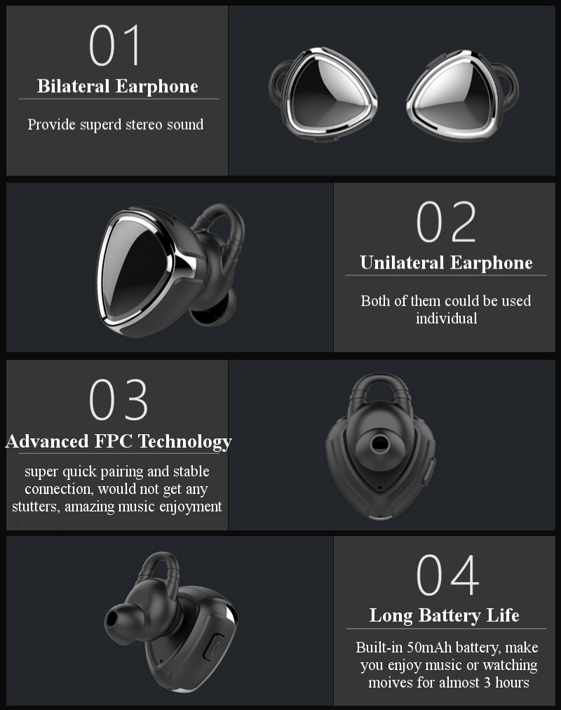 [Truly Wireless] Senmerle S8 Sport DSP Noise Reduction Multi-devices Connection bluetooth Earphone