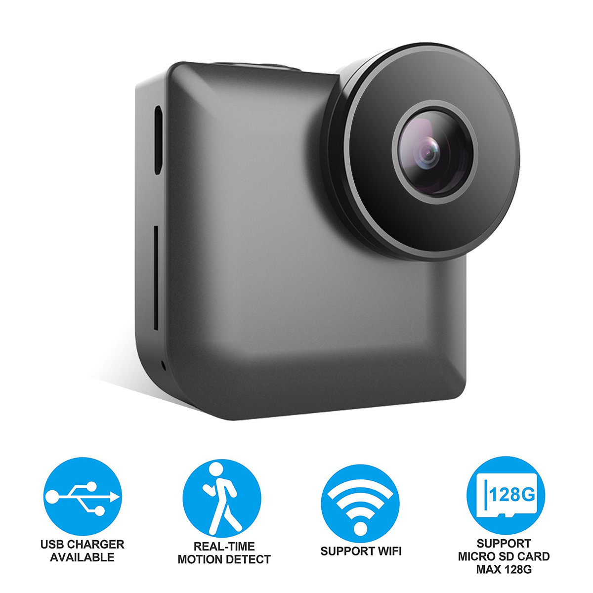 WiFi 140° Wide-angle 720P Camera Motion Detection Remote Intelligent Infrared IP Wireless HD Camera