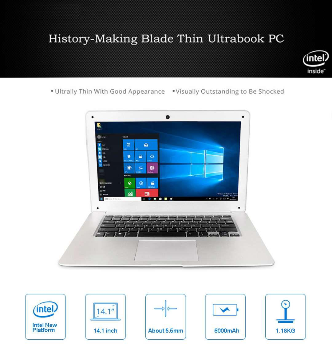 Binai G14pro Notebook Windows 10 14.1 Inch Intel Cherry Trail X5 Z8350 Quad Core 4GB/64GB Laptop