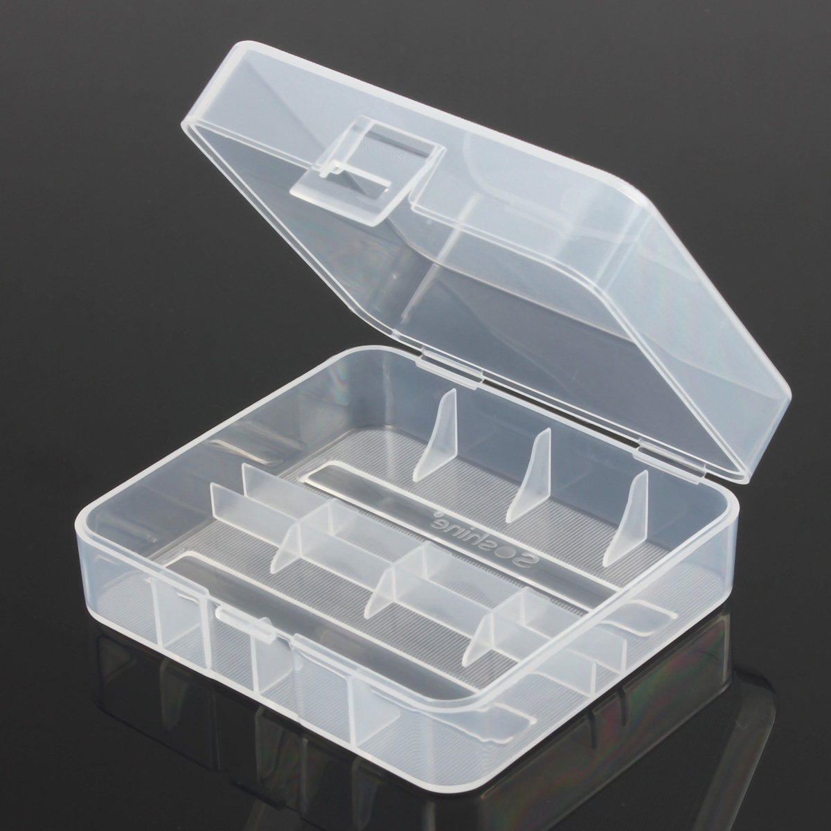 Plastic Clear Battery Case Holder Cover Storage Box Organizer DIY for 2Pcs 26650 Batteries