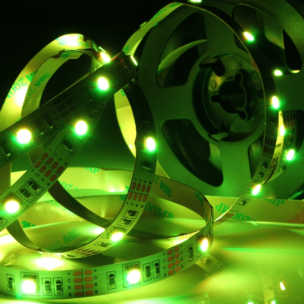 Battery Powered RGB Non-Waterproof LED Flexible Tape Rope Strip Light Kit + IR Remote DC5V
