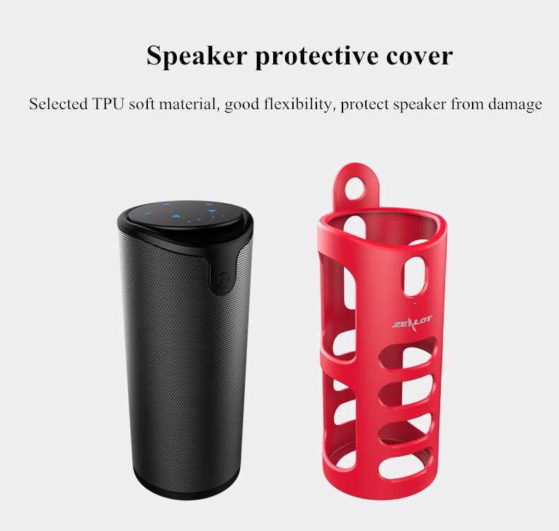Zealot S8 4000mAh Touch Control Bass 3D TF Card Hands-free AUX Wireless bluetooth Speaker Power Bank