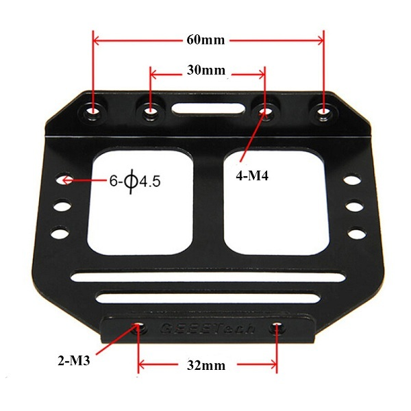 Geeetech® MK8 Dual Extruder Metal Holder For Two Heads 3D Printer