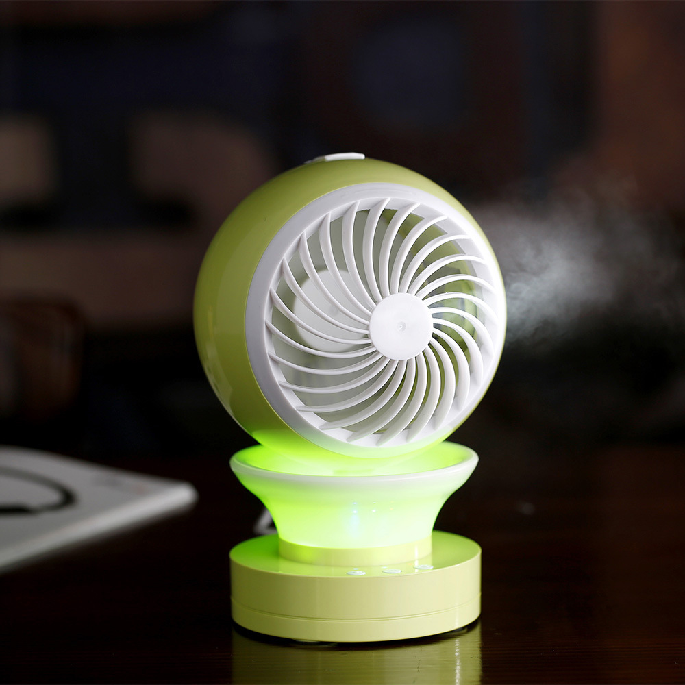 LED luminous spray humidification USB Charging Portable Mini Fan