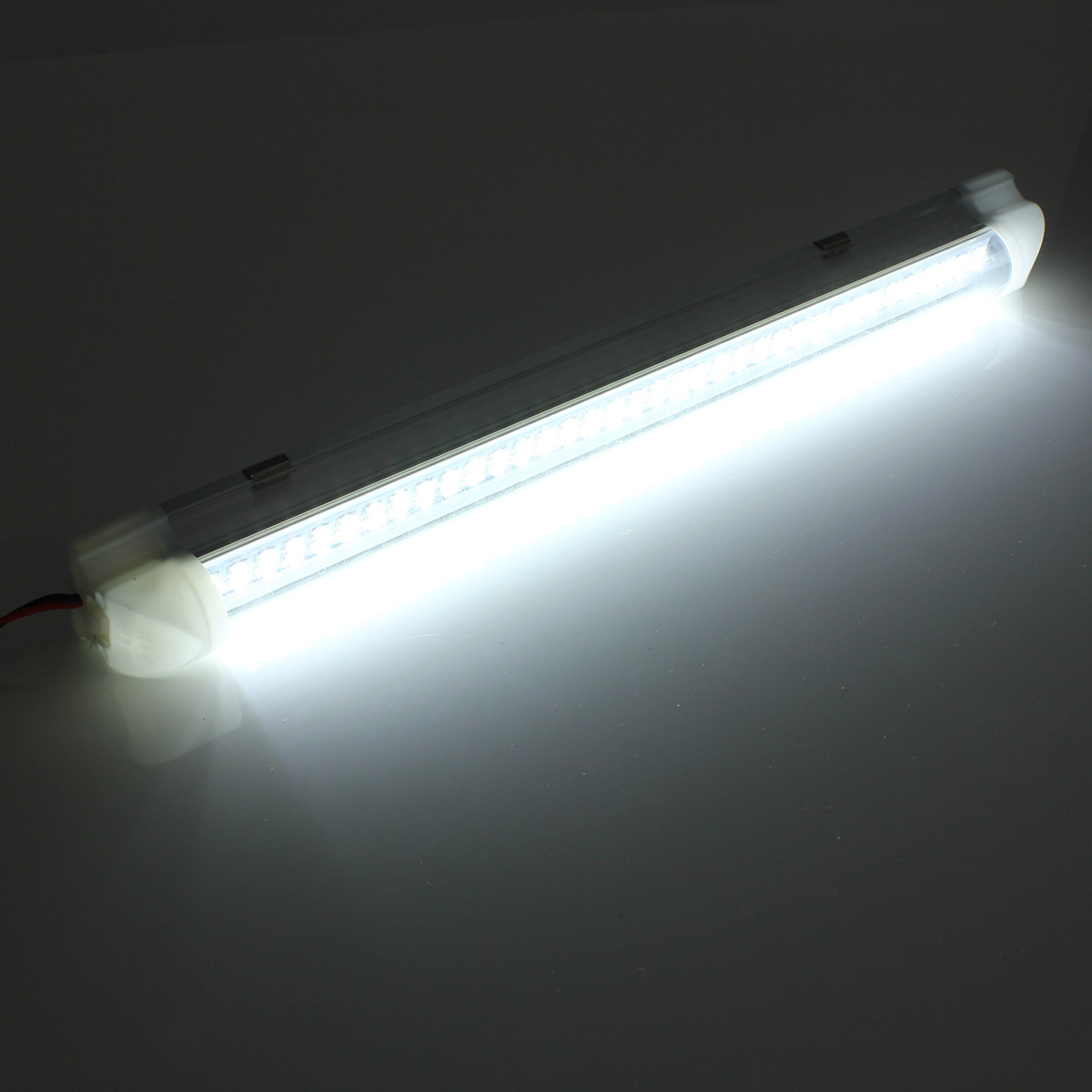 Universal Interior 34cm LED Light Strip Lamp White 4Pcs with ON/OFF Switch for Car Auto Caravan Bus