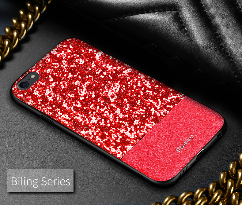 DZGOGO Diamond Bling PU Leather Protective Case for iPhone 6/6s