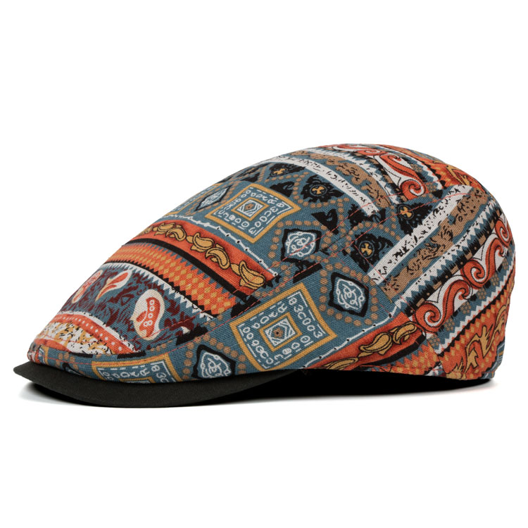 Ethnic Style Thin Breathable Visor Beret Cap