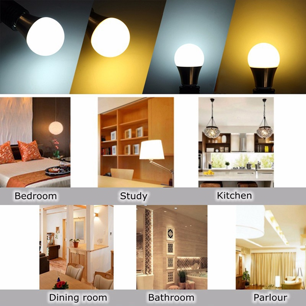 Non-dimmable E27 B22 3W 5730 SMD LED Globe Light Bulb Home Lamp 110-240V