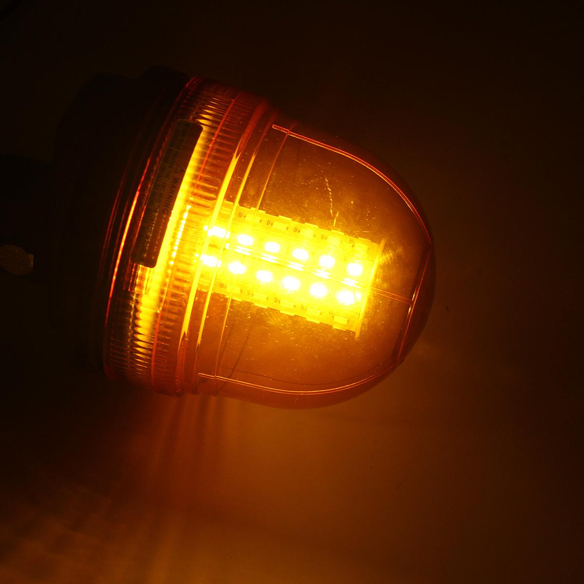 12V/24V LED Rotating Flashing Amber Beacon Waterproof Tractor ATV Motorcycle Warning Side Light