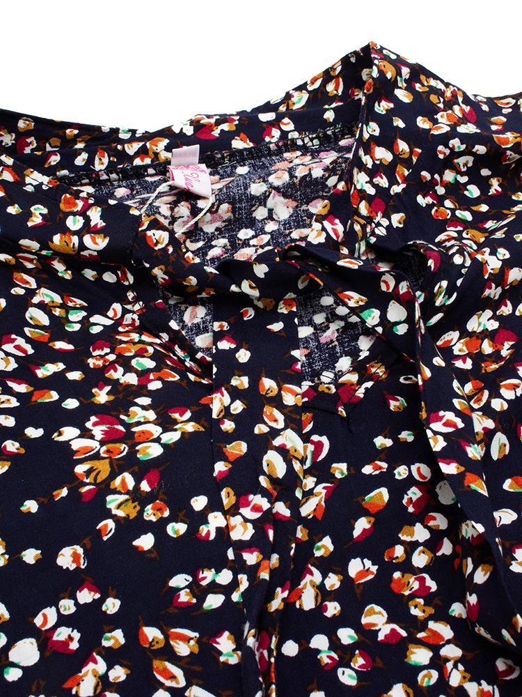 Women Plus Size Loose Chiffon Floral Dress