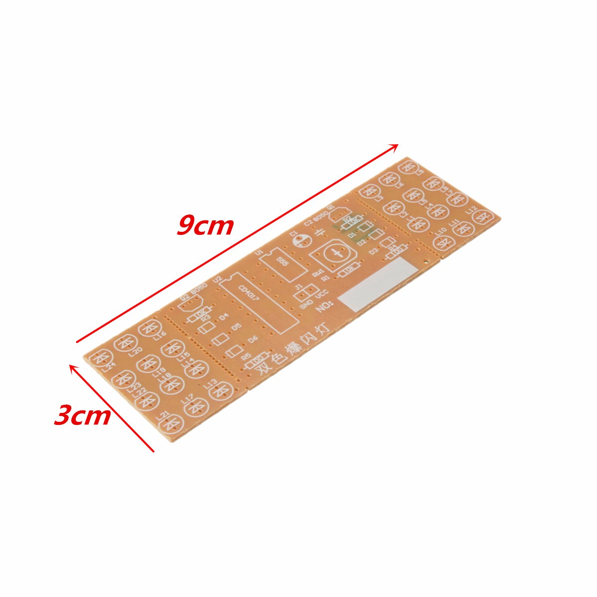 Diy Two Color Led Flashing Light Electronic Kit Circuit Board Sale China Digital Fm Receiver Assembly Production