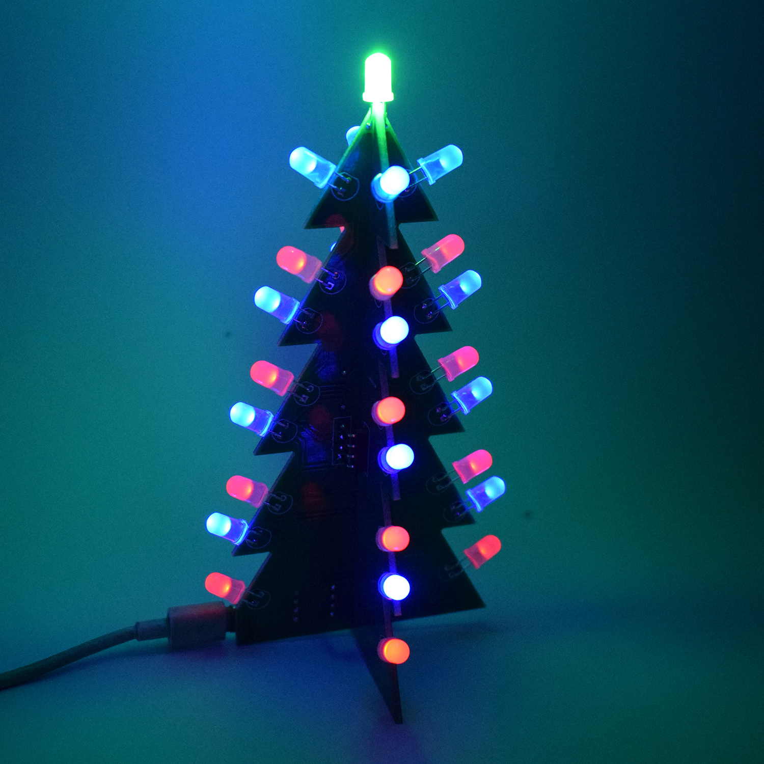 Geekcreit DIY Star Effect 3D LED Decorative Christmas Tree Kit Sale