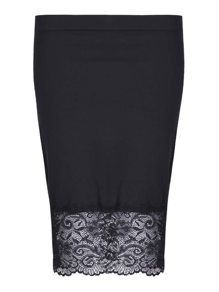 Sexy Women Lace Patchwork Bodycon Package Hip Pencil Skirt