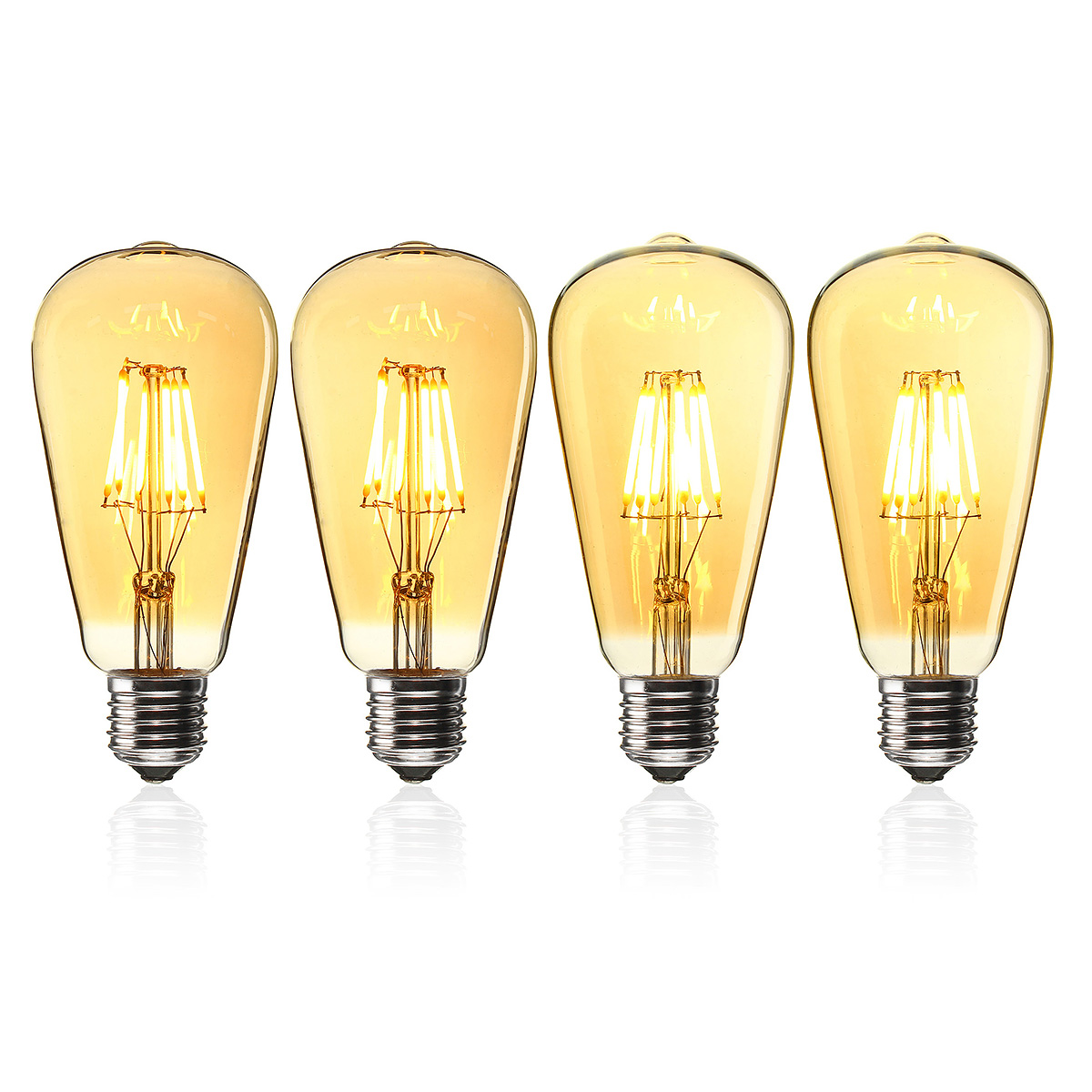 E27 ST64 6W Golden Cover Dimmable Edison Retro Vintage Filament COB LED Bulb Light Lamp AC110/220V