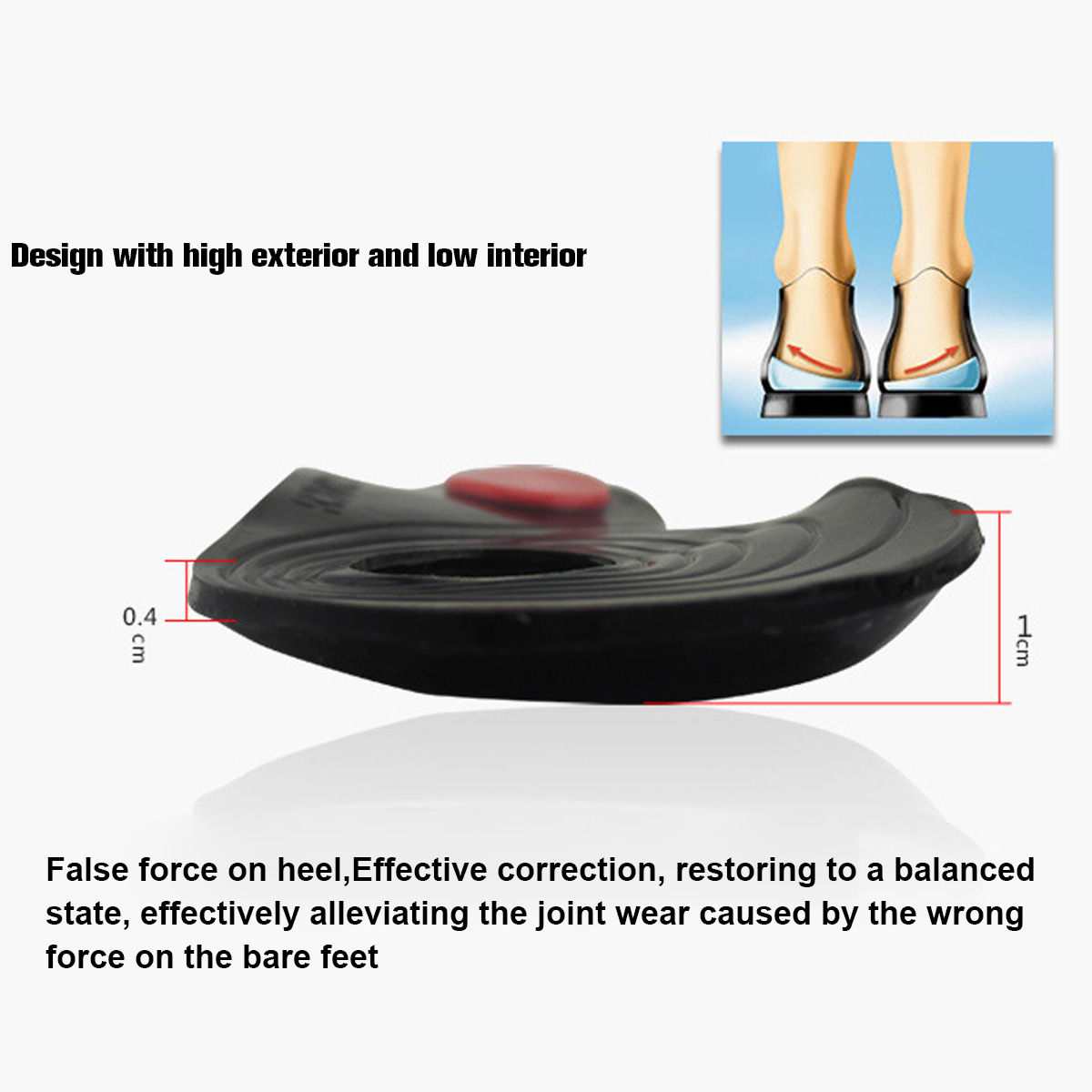 Adult Silicone O-type X-shaped Correction Heel Pad Insole Flatfoot Arch Support Adjustment