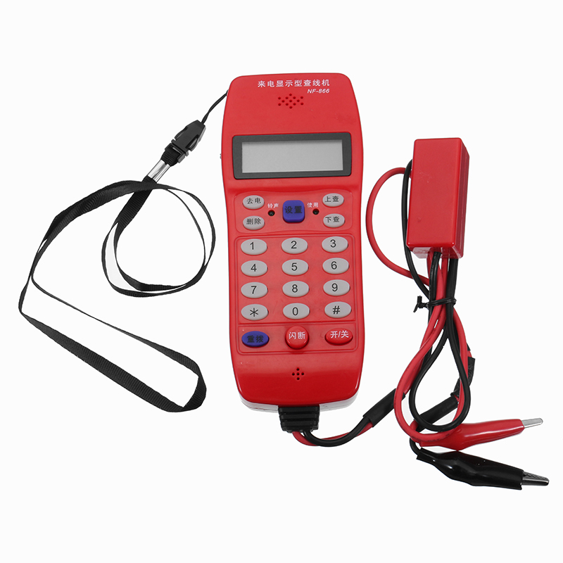 NF-866 Phone Line Cable Tester with Display Screen Tele Fiber Optical Tool Check DTMF Caller ID Auto Detection Search Machine Cable Tester