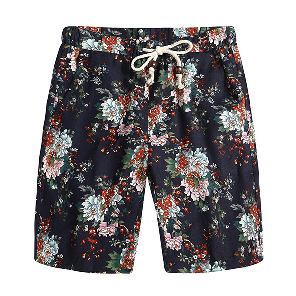 Floral Printing Ethnic Pattern Leisure Beach Board Shorts