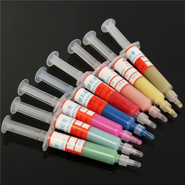 8pcs 5g Diamond Polishing Paste Lapping Compound Mold Polishing Tool set 0.5-10.0 Micron