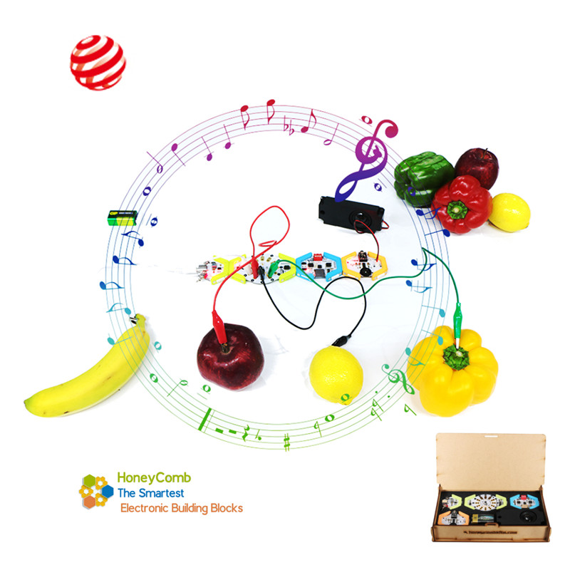 HoneyComb DIY Programmable Digital Electronic Kit Block Music Play Touch Sound Speaker For Kids