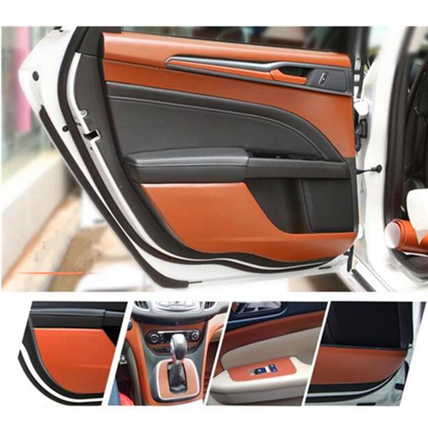 Brown 150 x 30CM DIY 3D PVC Texture Car Interior Decoration Film Vinyl Sticker
