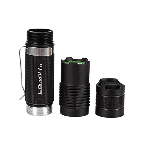 Convoy S8 Hard Oxygen DIY LED Flashlight Shell Host 18650 (Flashlight Accessories