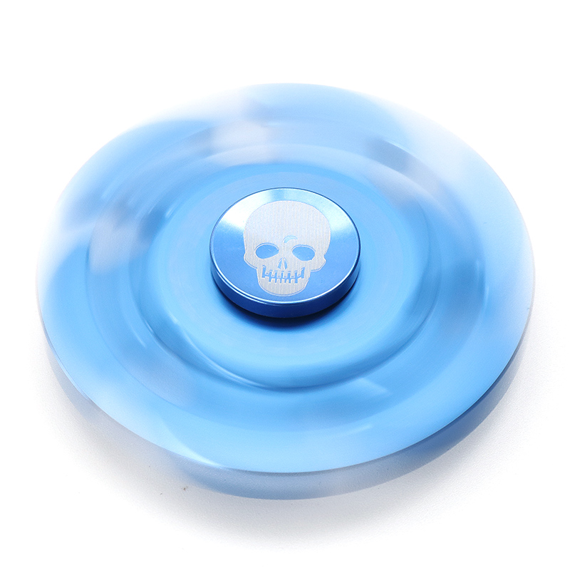Six Leaves Skeleton Shape Rotating Fidget Hand Spinner ADHD Autism Reduce Stress Toys