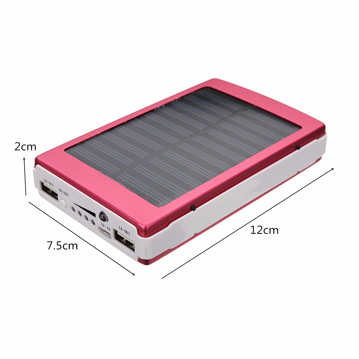 8000mAh Dual USB Solar External Power Bank Battery Charger Pack For iPhone 7 Plus Xiaomi Smartphone