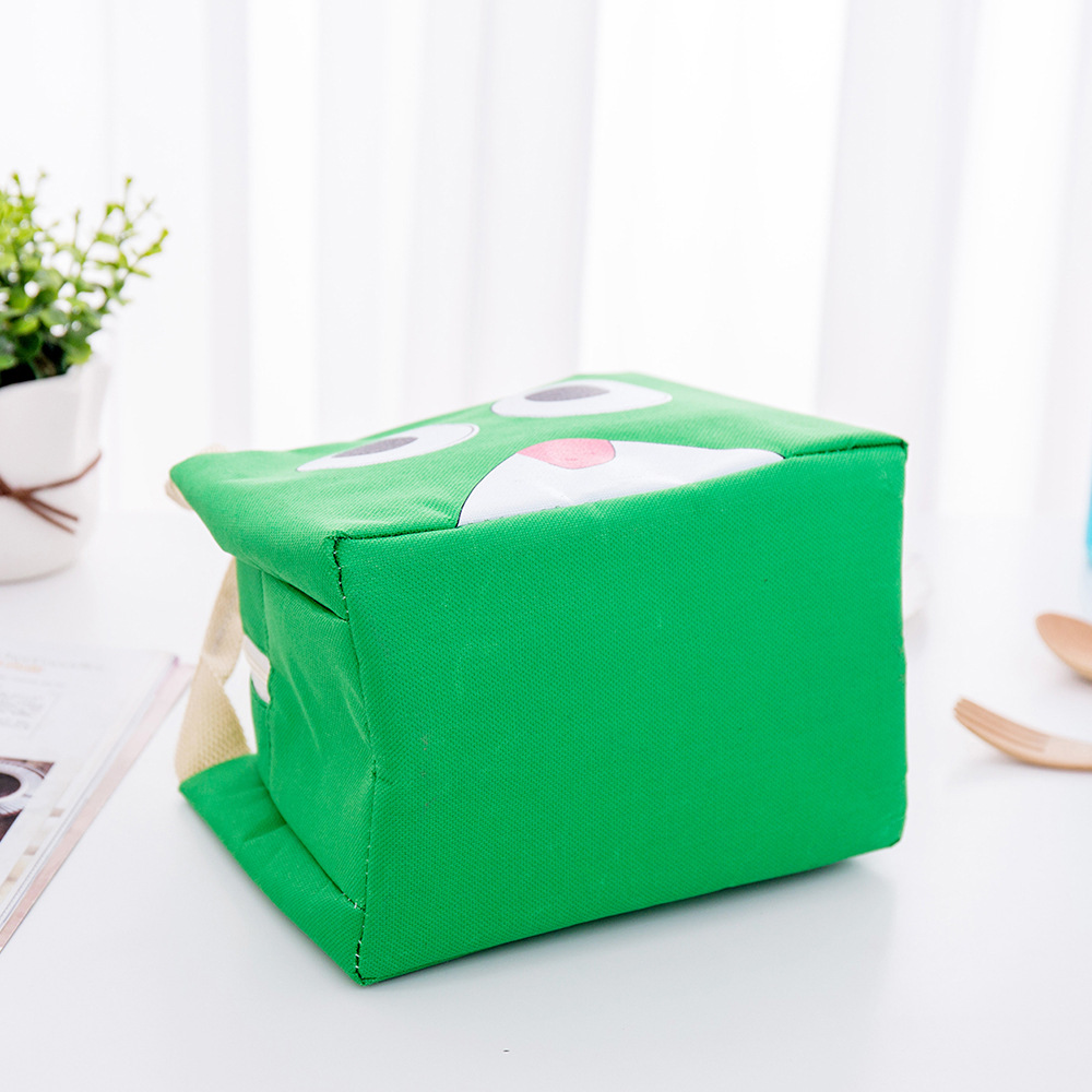 Outdoor Camping Picnic Bag Oxford Cloth Lunch Tableware Portable Insulated Students Thermal Food Box