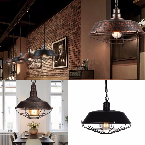 Retro Vintage E27 Fixture Industrial Loft Bar Pendant Light Ceiling Lamp Chandelier