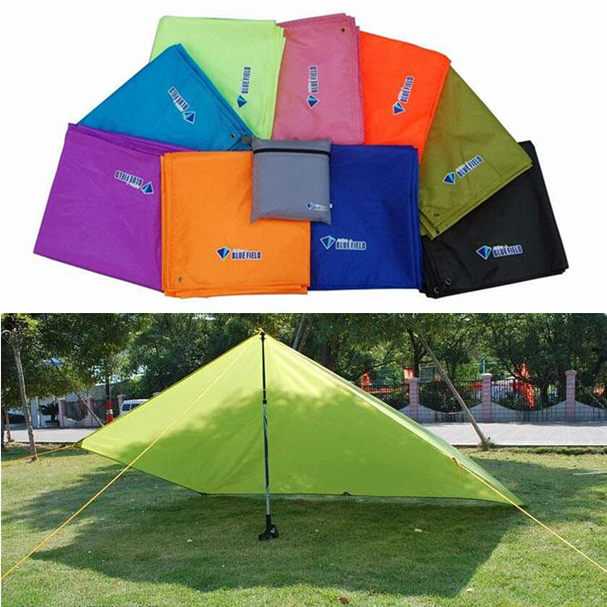 IPRee 250x150CM Portable Camping Tent Sunshade Outdoor