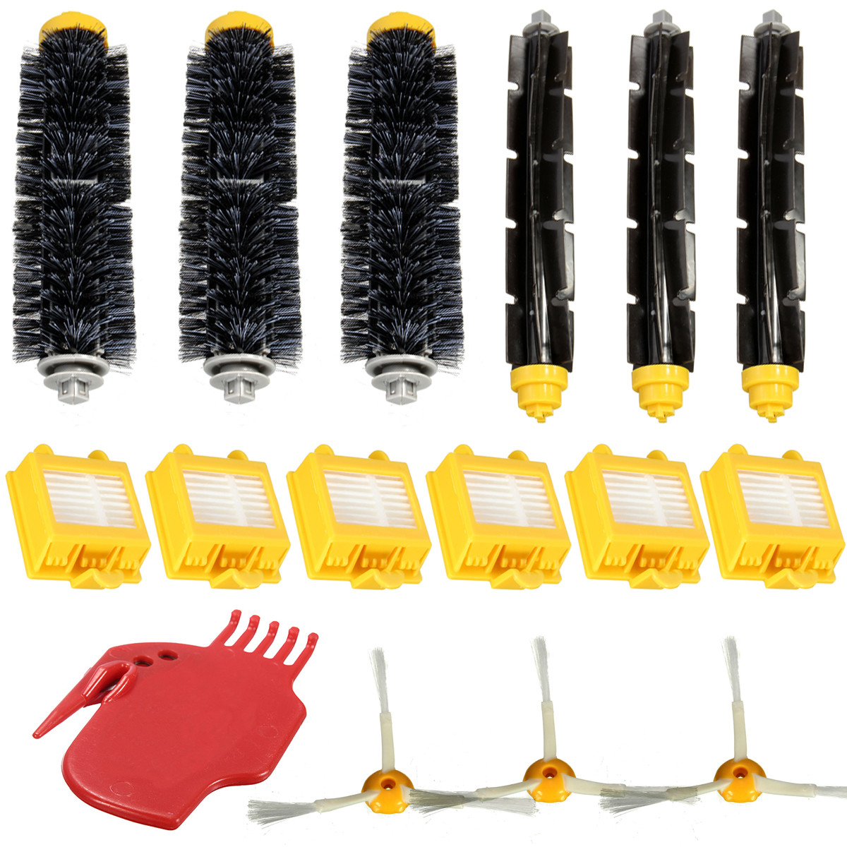16Pcs Hepa Filters Brush Pack Replacement Kit 3 Armed for iRobot Roomba 700 Series 760 770 780