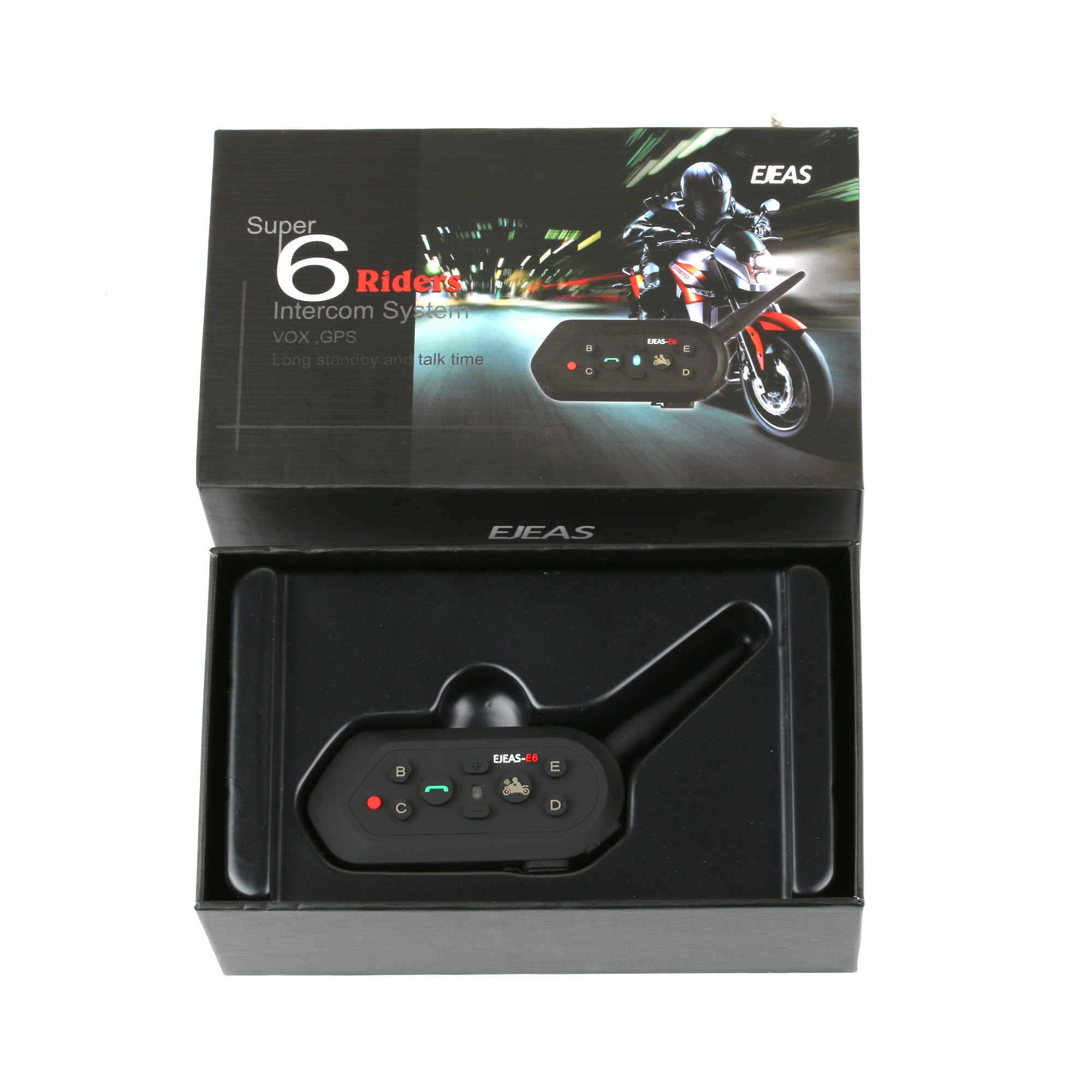 1200m Motorcycle E6 Interphone Helmet Intercom With Bluetooth Function For EJEAS