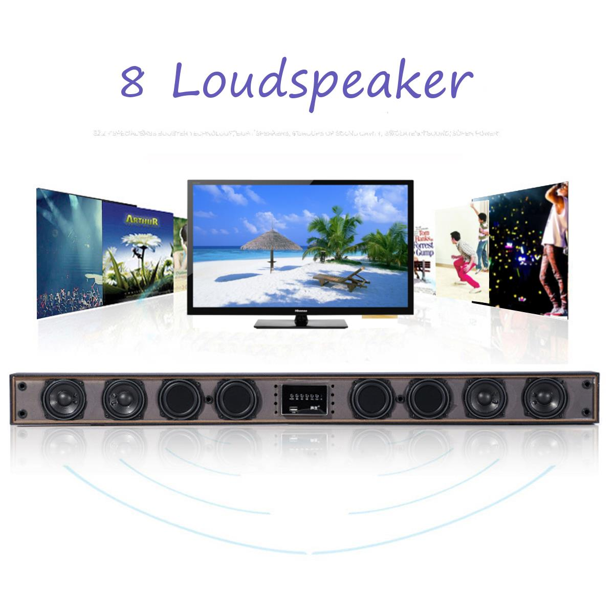 A079 8 Horn TV Subwoofer Speaker Wireless bluetooth Sound Bar Box Home Theater System