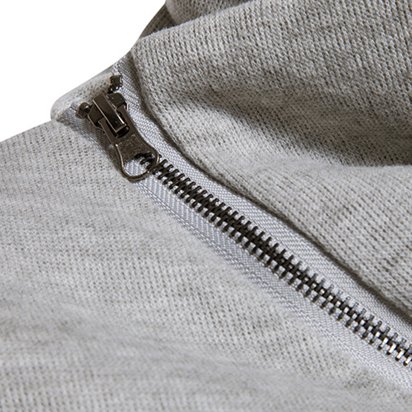 Autumn Winter Fashion Side Zipper Pile Heap Collar Sweater Pullover Men's Casual Pure Color Sweater