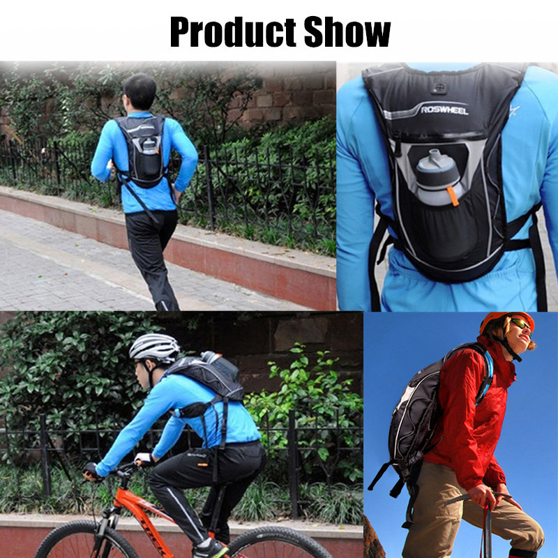 ROSWHEEL Outdoor Sports Water Bag Cycling 5L Multifunctional Backpack Hydration Waterproof Bag
