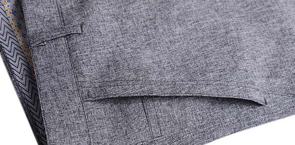 Men's Spring Summer Casual Suit Pants Pure Color Thin Straight Leg Linen Blended Trousers