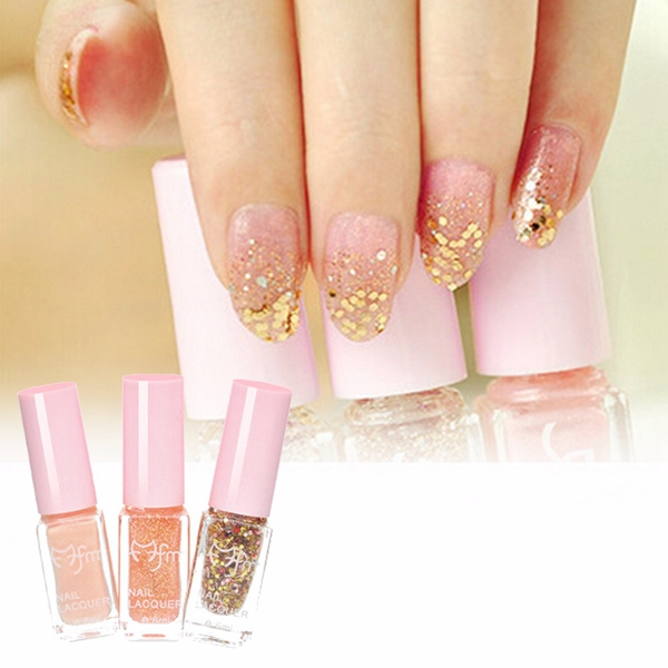 3Pcs Gradual Color Change Changing Glitter Nail Art Polish Enamel Kit Set