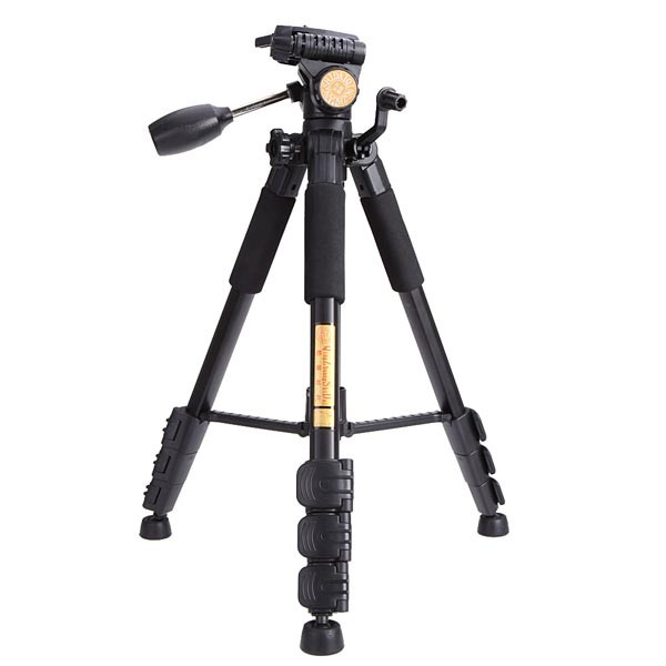 Portable QZSD Q111 4 Sections 5KG Tripod With Q08 Rocker Arm Ball Head For SLR Camera