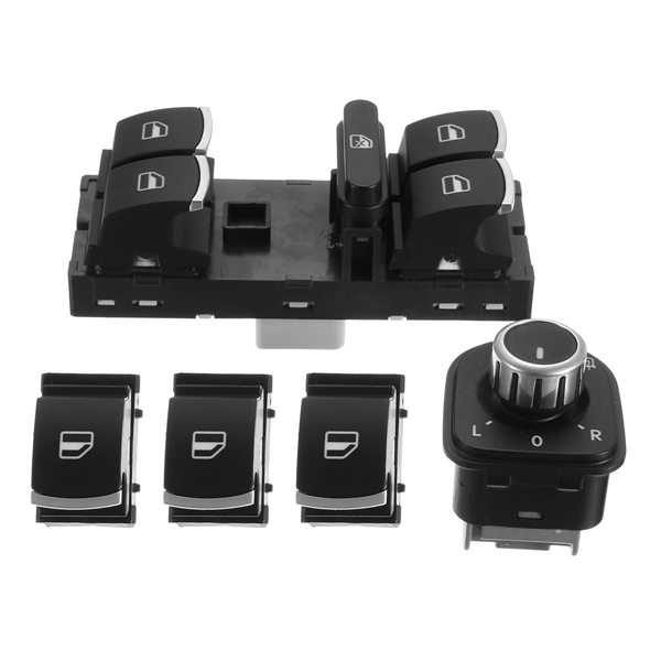 Car Chrome Switches Fit for Volkswagen CC Tiguan Passat B6 GOLF MK5 MK6 JETTA MK5 MK6