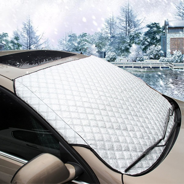 186x97cm Magnetic Car Windscreen Cover Sun Shade Anti Ice Snow Frost Protector 4 Seasons Universal